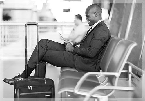 Airport Transportation Businessman Waiting