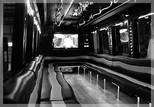 long island bachelor party inside a limousine