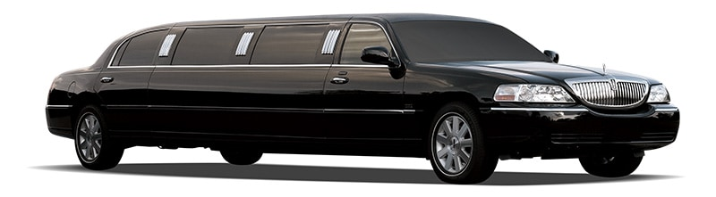 A black limo amongst our corporate vehicle collection