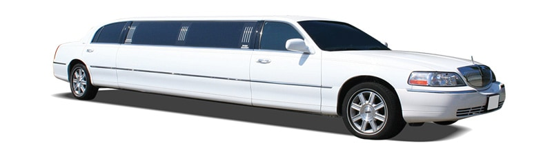 white limousine amongst our corporate vehicles